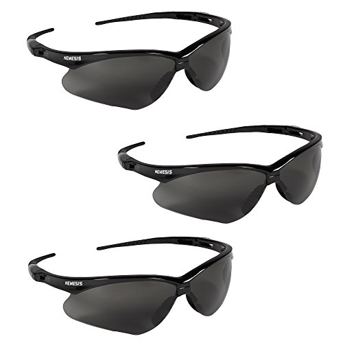 Jackson Safety V30 22475 Nemesis Safety Glasses 3020121 (3 Pair) (Black Frame with Smoke Anti-Fog ()