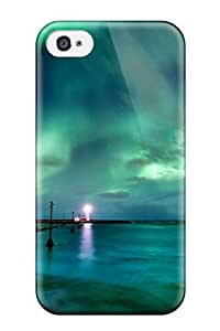 Shock-dirt Proof Aaurora Borealis Case Cover For Iphone 4/4s