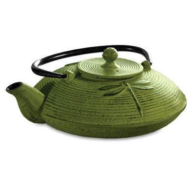 P Green Cast Iron Tea Pot 28oz