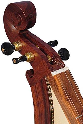 4 string F-hole mountain dulcimer Premium rosewood Muzikkon 4 string Mountain Dulcimer