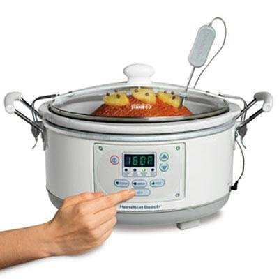 Hamilton Beach 33956 Set 'n Forget 5-Quart Slow Cooker, White by Hamilton Beach