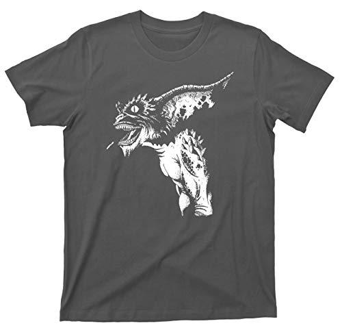 Gremlins T Shirt Mogwai Stripe Gizmo 80s Scary Comedy Movie Tee (XL, Dark Gray) -