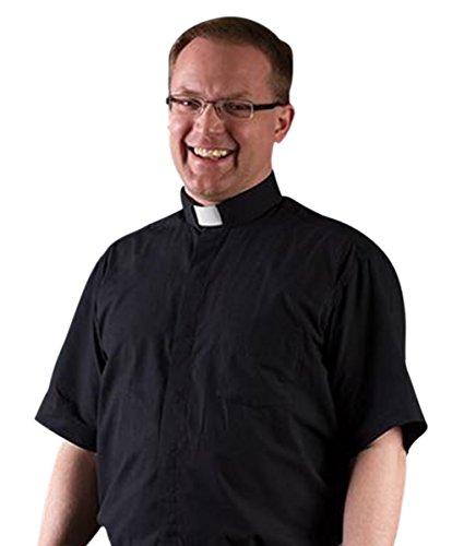 Ecclesiastical apparel ecclesiastical apparel men 39 s short for Mens tab collar dress shirts