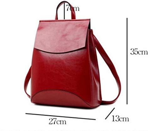 Red1 Capacità Elegante Di Universali A Grande Tracolla In Viaggio Borse Da Morbida Pelle Zaini 7n6qWwOz