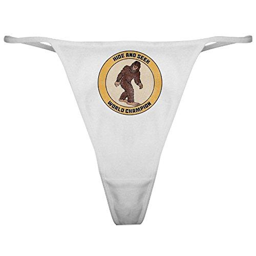 CafePress Hide and Seek World Champion - Thong Underwear, Funny Womens Panties