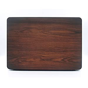 iCasso Macbook Retina 15 Inch Case Rubber Coated Soft Touch Hard Shell Protective Cover For Macbook Pro 15 Inch Retina (No CD-ROM )Model A1398 With Keyboard Cover -Wood