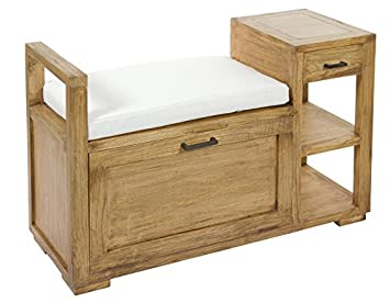 Momma Banc Coffre Ios En Bois 37 X 100 X 63 Cm Luxomobel Amazon