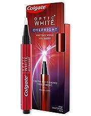 Colgate Optic White Overnight Teeth Whitening Treatment Pen, 1 Pen, Contains Hydrogen Peroxide, Enamel Safe