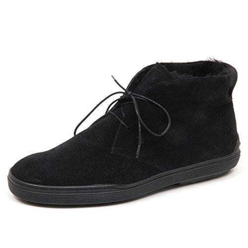 Tod's E3656 Polacchino Uomo Black Scarpe Inside Fur Boot Shoe Man Nero