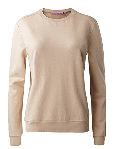 Regna X No Bother Womens Turtleneck Long Sleeve Casual Pullover Sweatshirts - All Cotton Sweatshirts