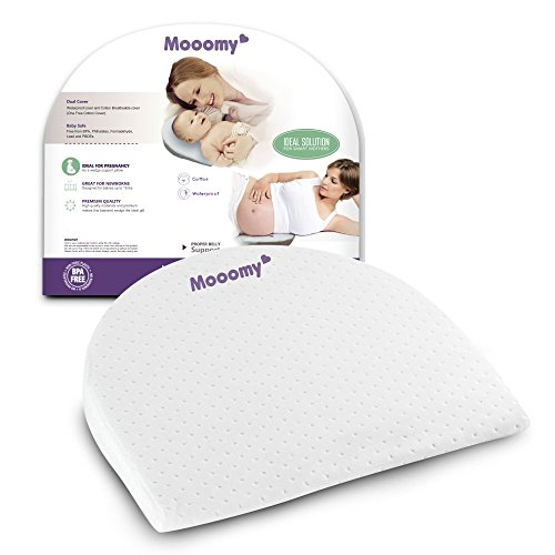 Mooomy Acid Reflux Pillow for Newborns - Improve Sleep Position by Elevating the Upper Body with 12 Degrees - Baby Wedge Pillow for Relief and Acid Reflux - Comfortable Waterproof & Hypoallergenic from Mooomy