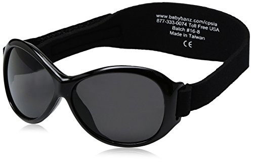 Baby Banz Retro Banz Oval Baby Sunglasses,Midnight Black,One - Online Sunglasses Baby