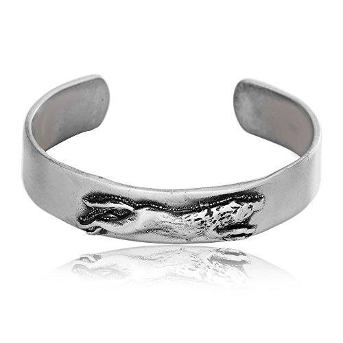 Dan's Jewelers Wolf Bracelet Native American Indian Inspired Design, Fine Pewter Jewelry
