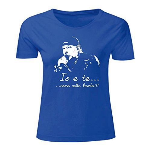 Maglietta Art Vasco Favole shirt T Donna Blu x8aqvn0Tqw