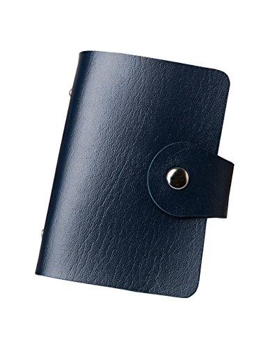 - Euro Mond Credit Card Holder Wallet Credit Card Case for Women Men 24 Card Slots 10 Colors Navy
