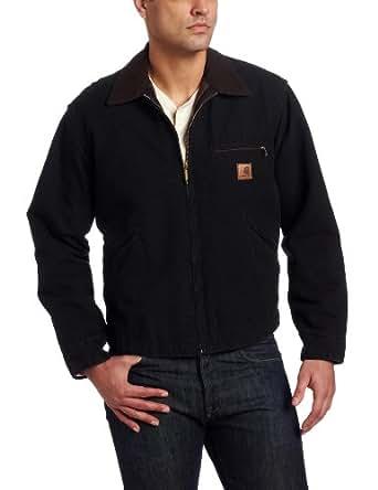 Carhartt Men's Blanket Lined Sandstone Detroit Jacket J97,Black,Small