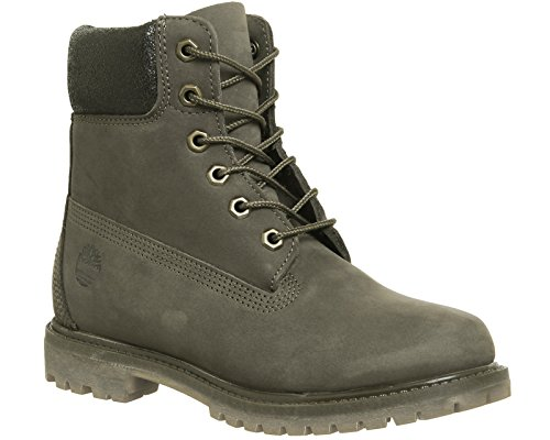 Hiking Canteen Collar Nubuck Metallic Timberland Boot Rise 6 in Women's High Premium YYUAwOxH