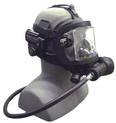 OTS Guardian Full Face Mask with Buddy Phone (Black Skirt/Black Harware)