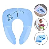 Munto Travel Potty Seat, Portable Folding Potty Training seat for Babies, Toddlers and Kids, Blue: more info