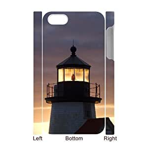3D Bumper Plastic Case Of Lighthouse customized case For Iphone 5/5s