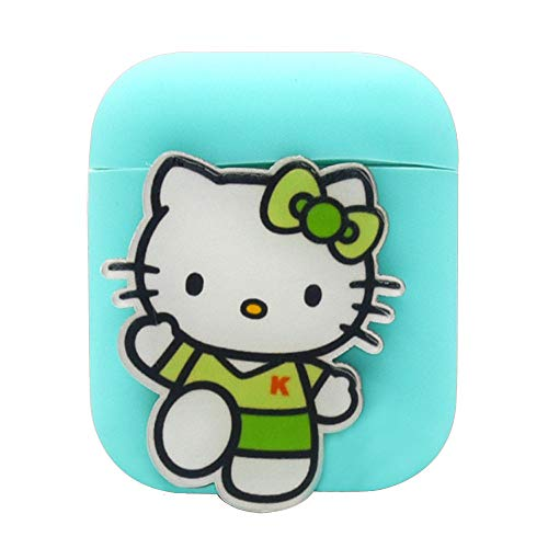 Price comparison product image Sonmer Cute Soft Silicone Shock Proof Solid Color Protective Case For Airpods Earphones (F)
