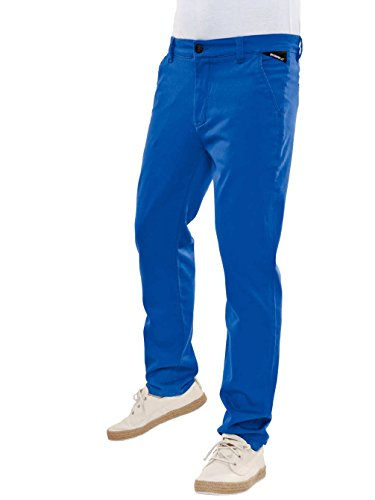 bleu Stretch Cobalt Slim Taille Reell Blue Pants Chino zTvOFFwqY
