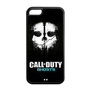 5C Phone Cases, Call of Duty Ghosts Hard TPU Rubber Cover Case for iPhone 5C