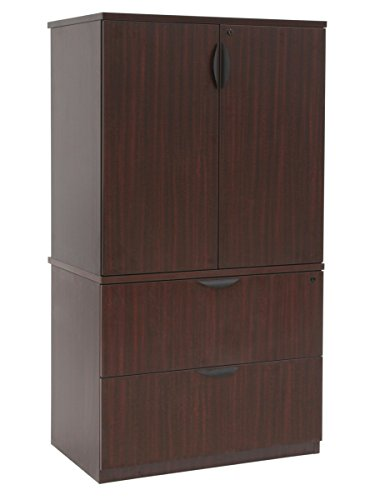 Regency Mahogany Cabinet (Regency Legacy Lateral File with Stackable Storage Cabinet, Mahogany)