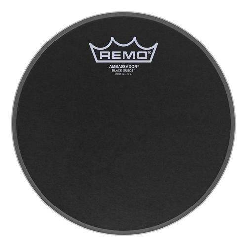 Remo Ambassador Black Suede Drumhead, 8'' by Remo