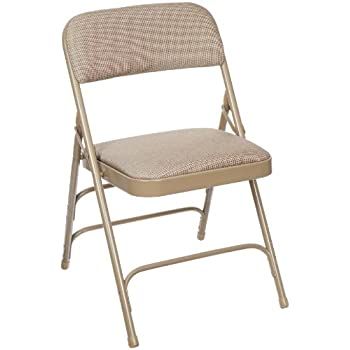 Elegant National Public Seating 2300 Series Steel Frame Upholstered Premium Fabric  Seat And Back Folding Chair With