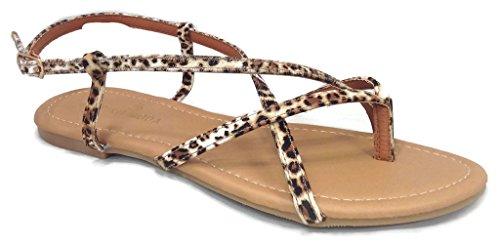 Moda Leopard Sandals - 4