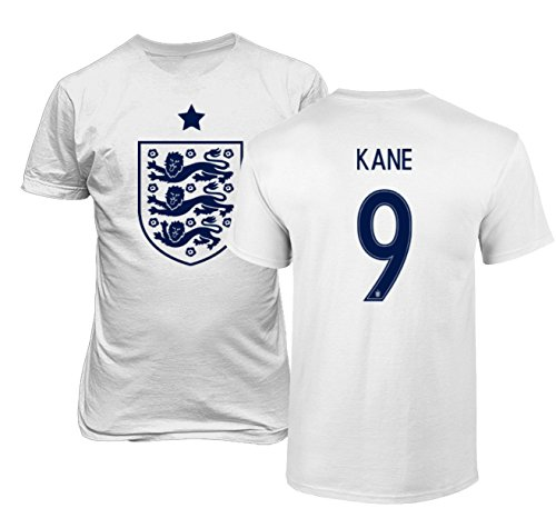 National Soccer Championships - Tcamp England 2018 National Soccer #9 Harry KANE World Championship Men's T-Shirt (White, Adult X-Large)