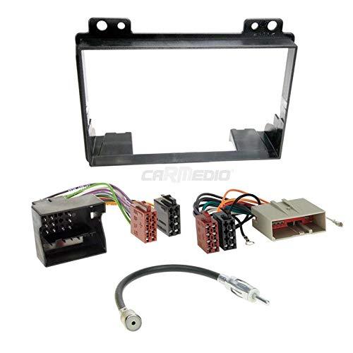 Ford Fiesta 01-05 2-DIN Autoradio Einbauset in original Plug/&Play Qualit/ät mit Antennenadapter Radioanschlusskabel Zubeh/ör und Radioblende//Einbaurahmen schwarz