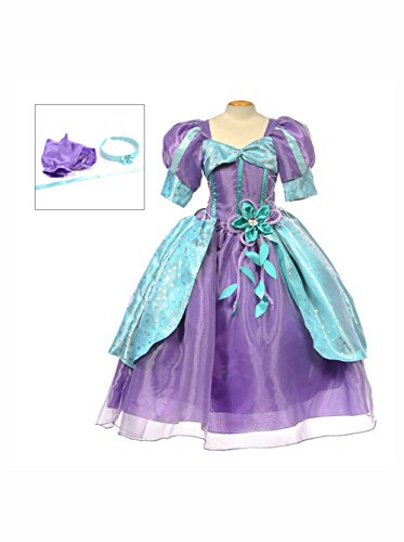 Disney Ariel Dress (MylittlelizShop Disney Little Mermaid Princess Dress Kids Costume Size 6)