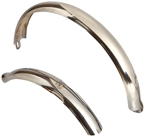 Firmstrong Beach Cruiser Bicycle Fender Set, Front/Rear, Chrome, 26