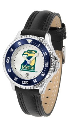 (SunTime North Carolina (Wilmington) Seahawks Competitor Ladies Watch with Leather Band)