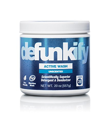 Defunkify ACTIVE WASH Laundry Detergent - Soap for Activewear, High Tech, Synthetic Clothing, and all your other Laundry. Removes Odors and Stains from Sportswear. 20 oz. (28 Loads), 0.43 per Load