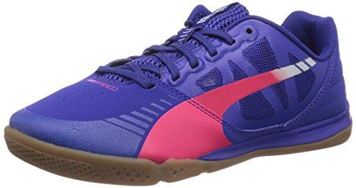 Puma evoSPEED Sala - zapatillas de fútbol de material sintético unisex azul - Blau (clematis blue-bright plasma-gray dawn 08)