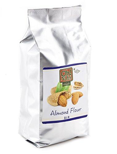 Almond Flour All Natural, Extra Fine Ground Almond Meal - Oh! Nuts (1 LB Bag All Natural Almond Flour)