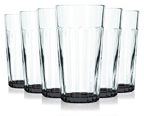 black libbey jumbo cooler glass
