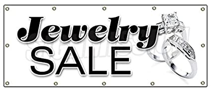 """ae5e24e94 Image Unavailable. Image not available for. Color: 48""""x120"""" JEWELRY  SALE BANNER SIGN signs store jeweler ..."""