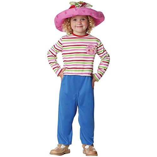Girls Strawberry Shortcake Kids Child Fancy Dress Party Halloween Costume, 4T-6T -