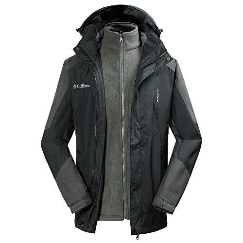 Escursionistica Tuta Rimovibile Black Per Donna Uomo Grey Esterno Cappotto Inx6xBg