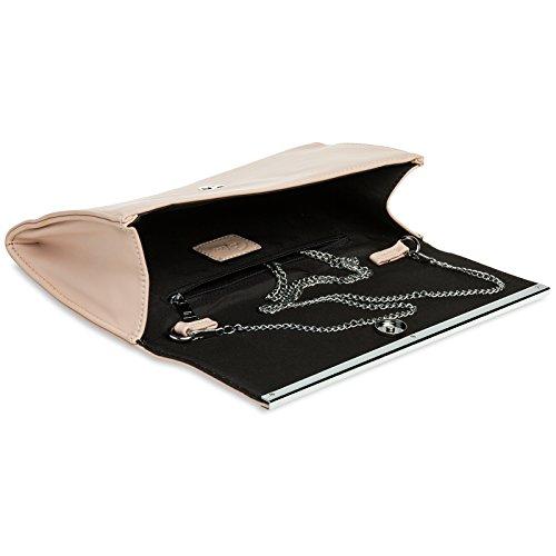 Clutch Decor Metal with Bag Pink Evening CASPAR Elegant Long TA393 Ladies Envelope zOwqZIv
