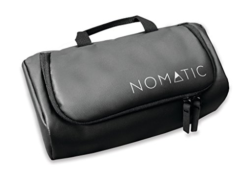 NOMATIC Waterproof Travel Toiletry Wash Bag Bathroom Makeup Storage Shaving Kit with Hanging Hook (Black)