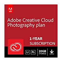 Adobe Creative Cloud Photography plan with 20GB storage | 1 Year Subscription (Download)