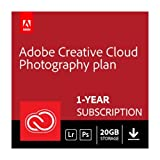 Software : Adobe Creative Cloud Photography plan with 20GB storage | 1 Year Subscription (Download)