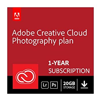 1 Year Subscription to Adobe Creative Cloud Photography 20 GB plan