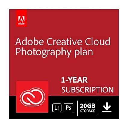 Amazon Adobe Creative Cloud Photography Plan With 20gb Storage