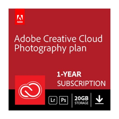 Adobe Creative Cloud Photography plan with 20GB storage | 1 Year Subscription - World Pc Student Discount